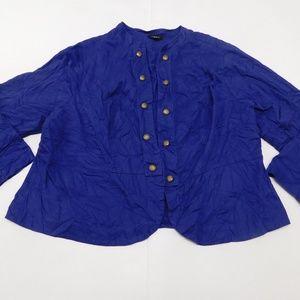 TORRID 4 Purple Open Blazer  Cotton